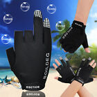 M/L 3 Low Cut Tackle Finger Fishing Gloves Wear Hunting Non Slip Leather Outdoor