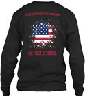 Veterans Day Gifts Patriotic Air Force - I Stand Gildan Long Sleeve Tee T-Shirt