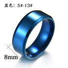 Titanium Steel Ring Polishing Mirror Simple Stainless Steel Ring Size 5 To 13