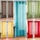 2PC SOLID VOILE SHEER WINDOW DRESSING CURTAIN GROMMET PANEL TREATMENT DRAPE