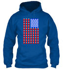 Pong Patriotic Usa Independence Day July 4th A Gildan Hoodie Sweatshirt