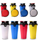 Puppy Dog Cat Pet Water Bottle Cup+Bowl for Portable Feeder Outdoor Travel