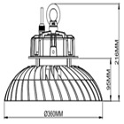 100W-240W LED High Bay Light Dimmable 5000K IP65 130 Lm/W Warehouse Workshop