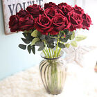 Внешний вид - 10 stems Artificial Floral Silk Fake Flower Bouquet Home Decor Wedding Decor 322