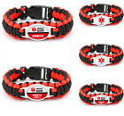 Diabetic Medical Alert Bracelet Badge Type 1 Type 2 Diabetes Survival Paracord