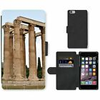 Phone Card Slot PU Leather Wallet Case For Apple iPhone Ruins of temple of Zeus