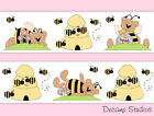 Внешний вид - Bumble Bee Teddy Bear Nursery Baby Girl Floral Wallpaper Border Wall Art Decals