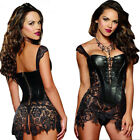 Sexy Lingerie Nightclub Dance Dress Steampunk Women Party Corsets Game Uniform