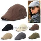 Mens Linen Cotton Golf Driving Beret Cabbie Hat Newsboy Flat Ivy Sun Summer Cap