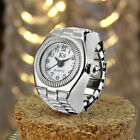Womens Mens Stainlesss Steel Quartz Ring Watch Alloy Dail Unisex Finger WatchRing Watches - 173698