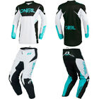 ONeal Element White motocross MX off-road dirt bike gear - Jersey Pants Combo
