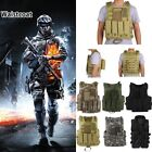 LOT New Tactical Military Police Airsoft Molle Combat Assault Plate Carrier Vest