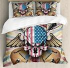Rock Guitar Duvet Cover Set Twin Queen King Sizes with Pillow Shams Ambesonne