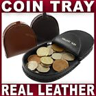 REAL LEATHER COIN TRAY purse wallet change holder Mens Gents Womens Ladies NEW
