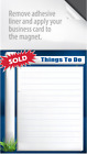 Real Estate Magnet Notepads - 50 Pack (Adhesive Area for Business Card)