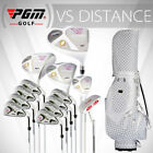 PGM Men's White Complete Golf Club Set with Bag 13-Piece Complete Club Set