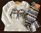 NWT Gymboree Girl Mix'n'Match Pinguin Tee & Fuzzy Leggings Outfit 2T 3T 4T 5T