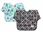 Bumkins Nintendo Sleeved Bib - Wipe and waterproof fabric