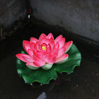 18cm Artificial Lotus Floating Water Lily Flowers Plants Home Decors Pond  X