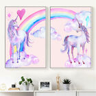 Mystic Unicorn Horse Canvas Print Art Painting Home Bedroom Wall Decor Pink