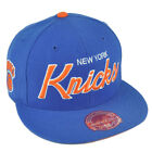 NBA Mitchell Ness G023 New York Knicks Fitted Flat Bill Script Hat Cap on eBay