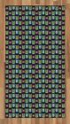 Geek Area Rug Decorative Flat Woven Accent Rug Home Decor in 2 Sizes