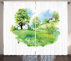 Urban Fabric Curtains 2 Panel Set for Decor 5 Sizes Available Window Drapes
