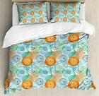 Botanical Duvet Cover Set Twin Queen King Sizes with Pillow Shams Ambesonne