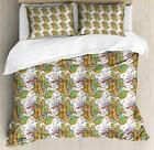 Spring Botany Duvet Cover Set Twin Queen King Sizes with Pillow Shams Ambesonne