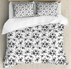 Summer Flowers Duvet Cover Set Twin Queen King Sizes with Pillow Shams Ambesonne