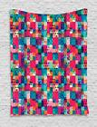 Colorful Shapes Tapestry Wall Hanging Decoration for Room 2 Sizes Ambesonne