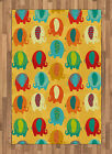 Vintage Kids Area Rug Decorative Flat Woven Accent Rug Home Decor 2 Sizes