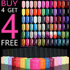 Soak off Color Gel Nail Polish 100 Colours Base Top Coat 8ml BUY 4 GET 4 FREE