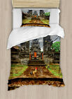 Ethnic Balinese Duvet Cover Set Twin Queen King Sizes with Pillow Shams
