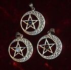 Beautiful Gemstone and Sterling Silver Pentacle Pagan/Wiccan/Gothic