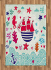 Digital Colorful Area Rug Flat Woven Accent Rug Home Decoration 2 Sizes