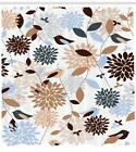 Earthy Tones Pattern Shower Curtain Fabric Decor Set with Hooks 4 Sizes
