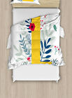 Ornamental Letters Duvet Cover Set Twin Queen King Sizes with Pillow Shams