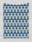 Blue and Yellow Tapestry Wall Hanging Form Decoration for Room 2 Sizes