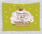 Cupcake Tapestry Wall Hanging Form Bedroom Dorm Room Decor 2 Sizes