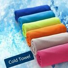 Ice Cold Coolin Down Towel Gym Sport Fitness Jogging Instant Cooling Chill Cloth image