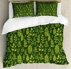 Sage Duvet Cover Set Twin Queen King Sizes with Pillow Shams Ambesonne