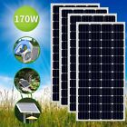 170 W 12V Polycrystalline Module Solar Panel Off Grid Battery Charge RV Boat Lot