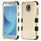 For Samsung GALAXY J3 2018 Hybrid Armor Brushed Rugged Shock proof Case Cover