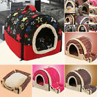 New Soft Pet Dog Bed House Kennel Mat Pad Warm Washable Puppy Cat Cushion S/M