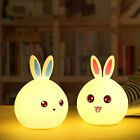 COLORFUL USB RECHARGEABLE SILICONE BUNNY LED TOUCH NIGHT LIGHT KIDS DECOR ALL