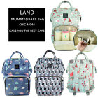 Genuine LAND Mummy Diaper Bag Maternity Backpack Shoulder Bag US STOCK
