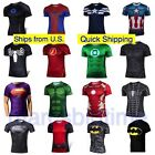 Mens Casual Sports T-Shirt Superhero Costume Top Tee Jersey Cycling Shirt image