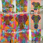 Indian Elephant Tapestries Wall Hanging Bohemian Dorm Decor Bedspread Tapestries