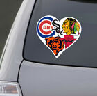 Love Chicago Sports Car Sticker Decal | Bears Bulls White Sox Cubs Blackhawks on eBay